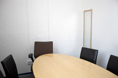 Empty conference room in television studio Royalty Free Stock Image