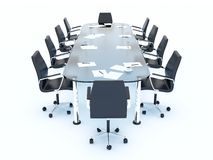 Empty conference table Royalty Free Stock Photography