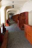 Empty confessionals, a place of repentance and conversion. Inter. National Shrine of St. Anne, Mount St. Anna, Poland Royalty Free Stock Images