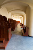 Empty confessionals, a place of repentance and conversion. Inter. National Shrine of St. Anne, Mount St. Anna, Poland Royalty Free Stock Photos