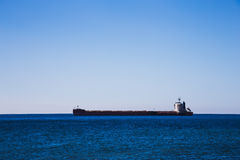 Empty container cargo ship in ocean Royalty Free Stock Images