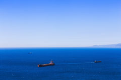 Empty container cargo ship and vessels Stock Photos