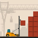 Empty container lift truck Stock Images