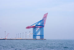 The empty container seaport Royalty Free Stock Image