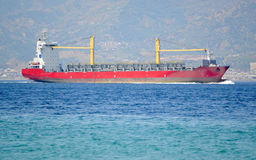Empty container ship Stock Images