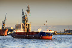 Empty containership in port Royalty Free Stock Images
