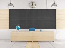 Empty contemporary classroom Stock Images