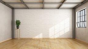 Empty contemporary loft Stock Image