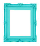 Empty contemporary vintage frame with vibrant color isolated on Royalty Free Stock Photo