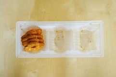 Almost empty cookie box Royalty Free Stock Photography