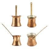 Empty copper cezve isolated Stock Photos