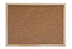 Empty cork board. With frame and clipping path Stock Photography