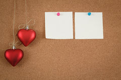 Empty cork board for valentine message Stock Photos