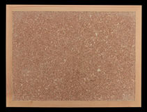Empty cork notice board wood frame Stock Image