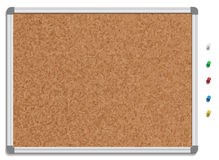 Empty corkboard with colored pins Royalty Free Stock Images