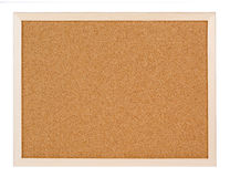 Empty corkboard isolated on white Royalty Free Stock Image
