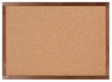 Empty corkboard isolated on white Royalty Free Stock Photography