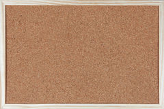 Empty corkboard with a wooden frame Royalty Free Stock Photos