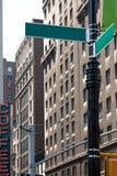 Empty Corner Street Signs Stock Image