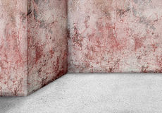 Empty corner wall  aged old dirty grungy vintage  background. In Stock Image