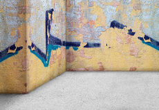 Empty corner wall  aged old dirty grungy vintage  background. In Stock Images
