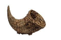 Empty Cornucopia Basket stock image