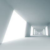 Empty corridor. Abstract architecture 3d background Royalty Free Stock Image