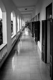 The empty corridor. Black and white Royalty Free Stock Images