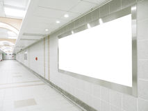 Empty corridor and blank billboard  Stock Images