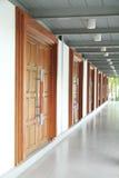 Empty corridor with closed doors Royalty Free Stock Image