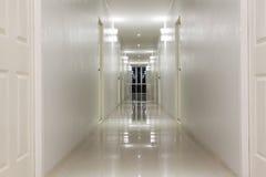 Empty Corridor Hallway, and room doors Royalty Free Stock Photos