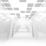 Empty corridor interior perspective. 3d. White abstract empty corridor interior perspective. 3d illustration Stock Image