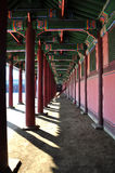 An empty corridor at Kyoungbok Palace Royalty Free Stock Photos