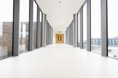 Empty Corridor In Modern Hospital Stock Photography