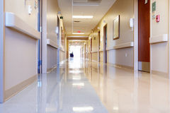 Empty Corridor In Modern Hospital Royalty Free Stock Photos