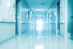 Empty Corridor In Modern Hospital Stock Photo
