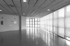 Empty corridor in a modern office building Royalty Free Stock Photo