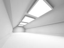 Empty Corridor Tunnel. Abstract Architecture Background. 3d Render Illustration stock illustration