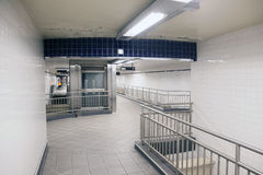 Empty corridors in subway station new york city Royalty Free Stock Photo