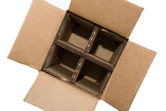 Empty Corrugated Bottle Box Royalty Free Stock Photography