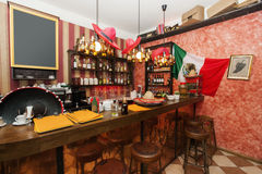 Empty counter in Mexican bar Royalty Free Stock Images