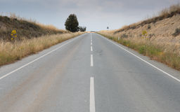 Empty country asphalt road  leading to nowhere Royalty Free Stock Photos