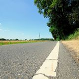 Empty country road royalty free stock photo