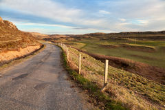 Empty country road on the isle of Mull Royalty Free Stock Photography