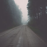 Empty country road Royalty Free Stock Images