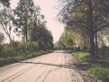 Empty country road Stock Images