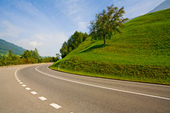 Empty countryside road. Picture of empty countryside road Royalty Free Stock Images