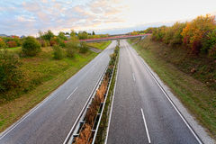 Empty countryside road Royalty Free Stock Photo
