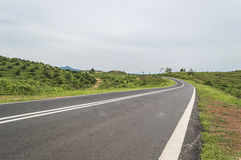 Empty countryside road. Picture of empty countryside road Stock Photo