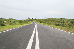 Empty countryside road. Picture of empty countryside road Royalty Free Stock Image